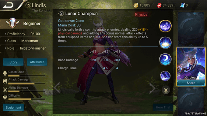 Lindis Lunar Champion