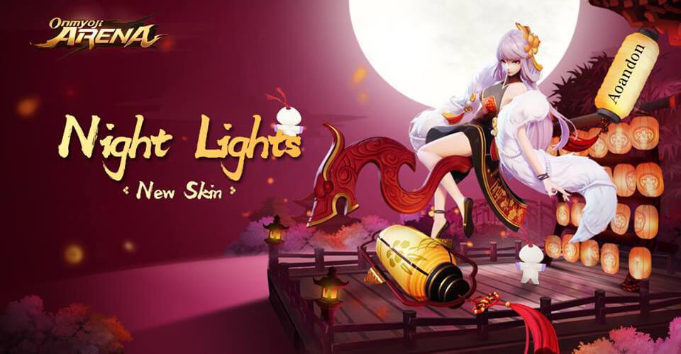 Aoandon Night Lights skin Onmyoji Arena