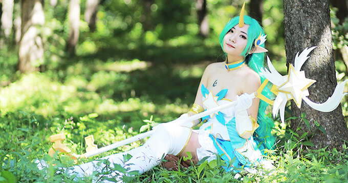 Star Guardian Soraka Cosplay by Korean cosplayer Aleah 2