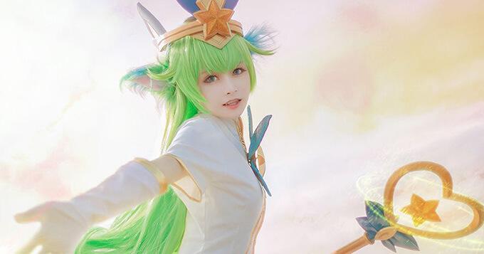 Watch cute Lulu Star Guardian cosplay by Maki 1