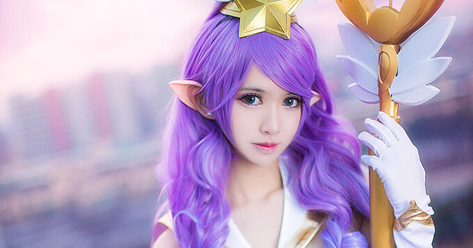 League of Legends: Dainty Star Guardian Janna Cosplay 11