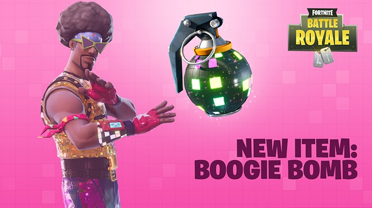 Fortnite Adds New Item Boogie Bomb
