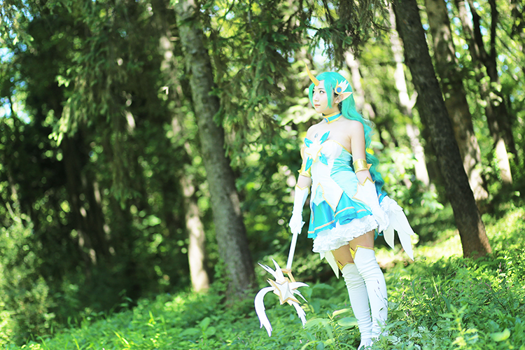 Star Guardian Soraka Cosplay by Korean cosplayer Aleah 5