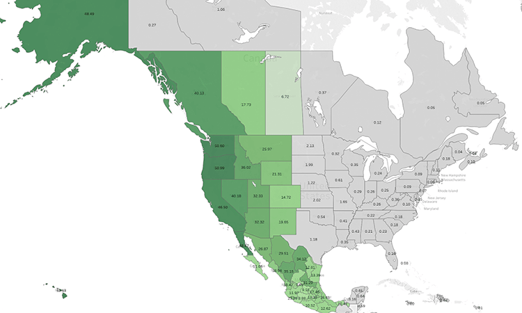 Fortnite Battle Royale average ping improvements for West Coast (US)