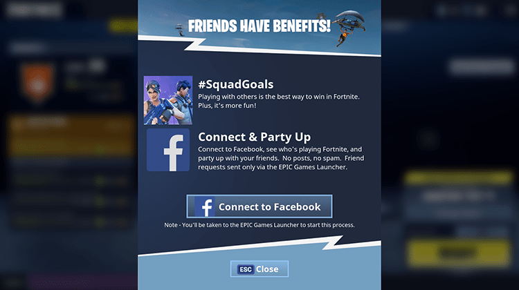 Fortnite Invite your friends