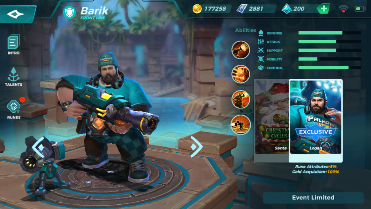Barik Login skin Paladins Strike Central