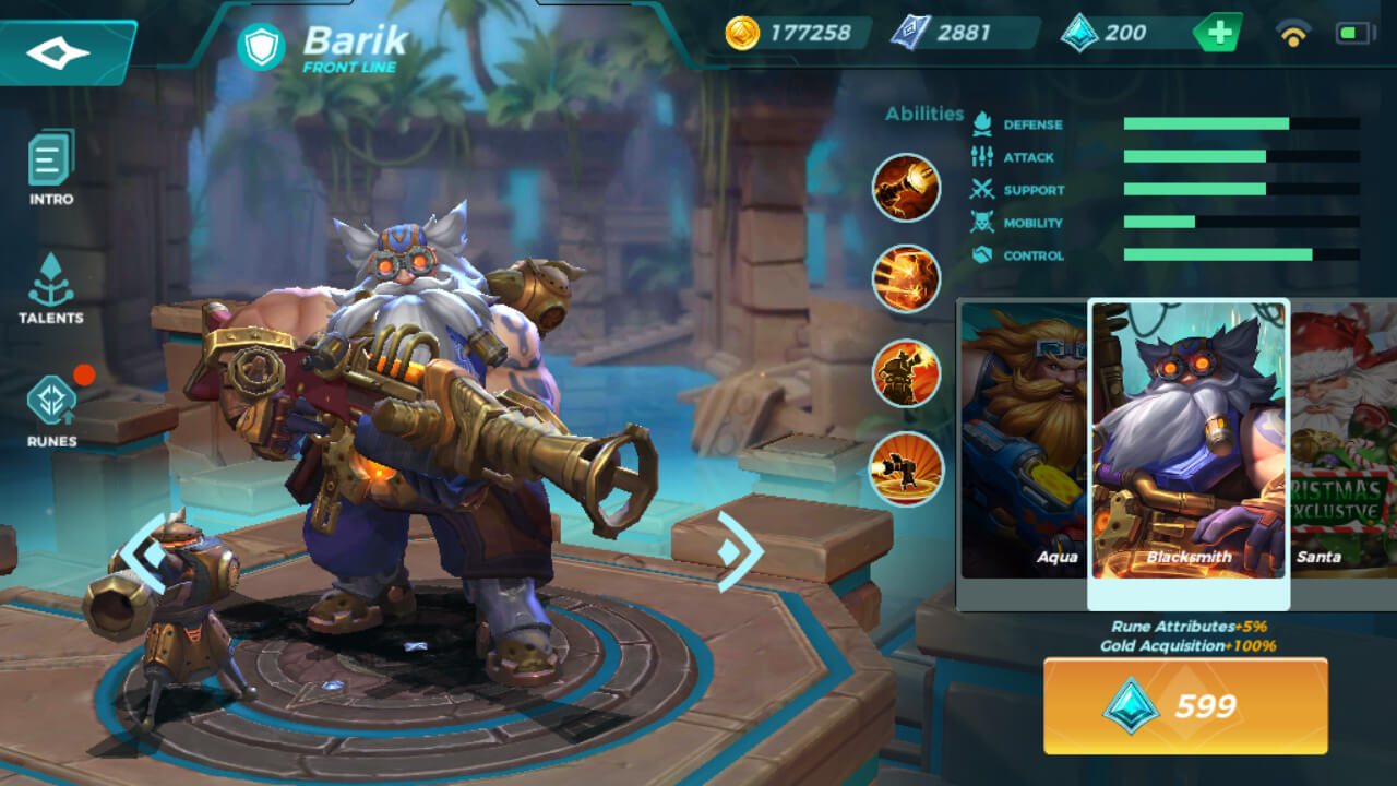 Barik Blacksmith skin in Paladins Strike