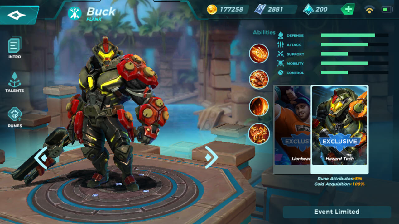 Buck Hazard Tech skin in Paladins Strike