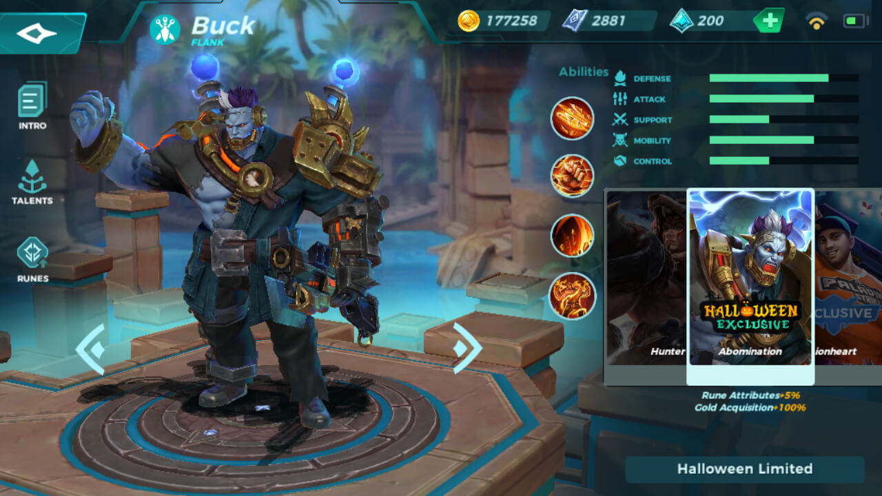 Buck Abomination skin in Paladins Strike