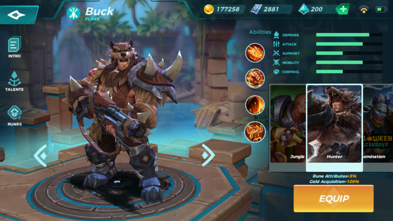 Buck Hunter skin in Paladins Strike