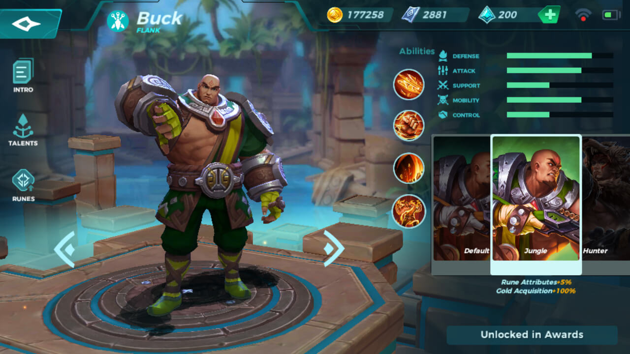 Buck Jungle skin in Paladins Strike