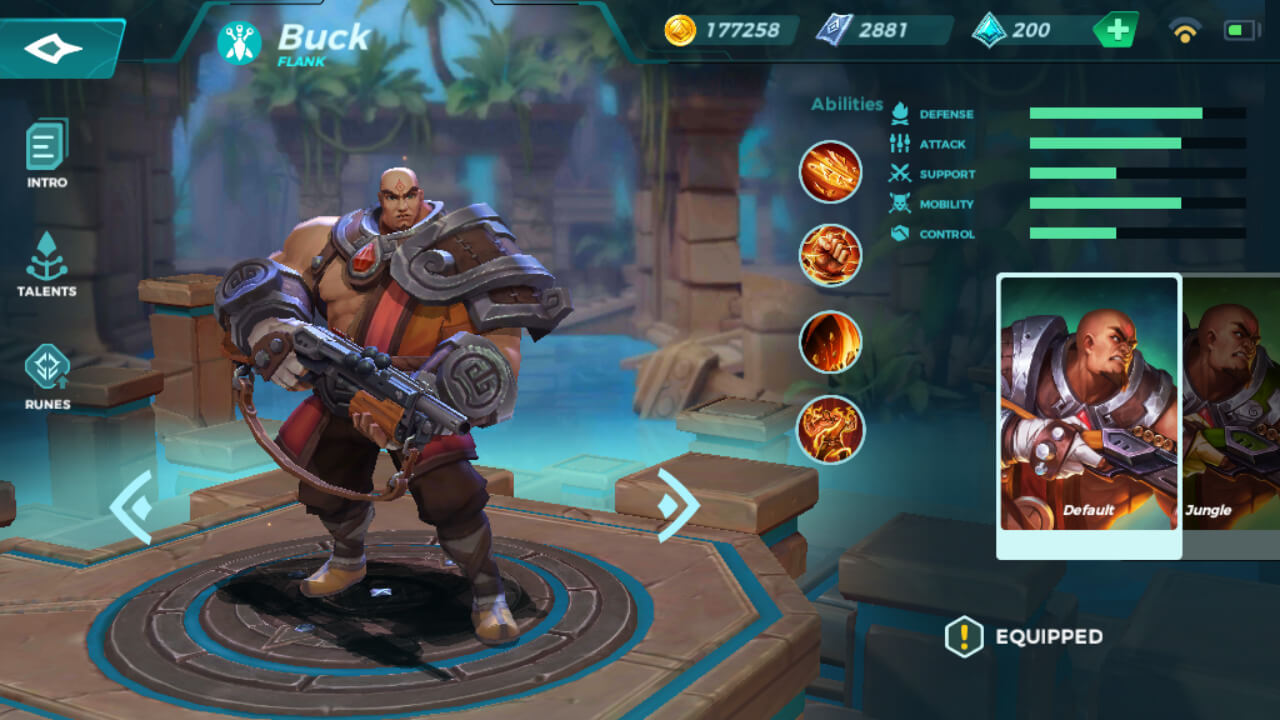Buck in Paladins Strike