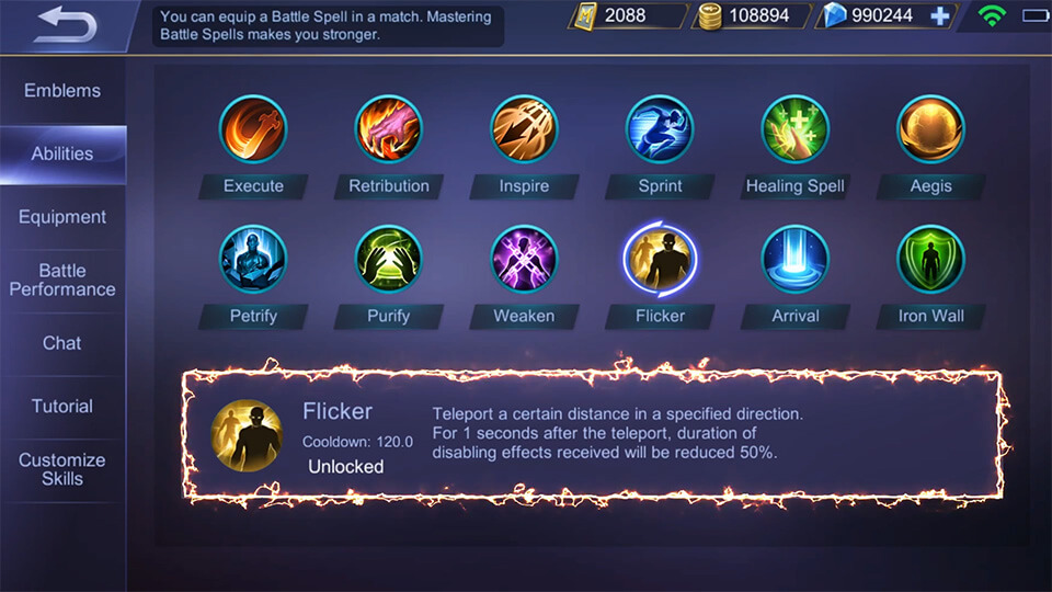 Mobile Legends: Bang Bang Chang'e ability recommended