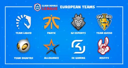 Clash Royale League European teams