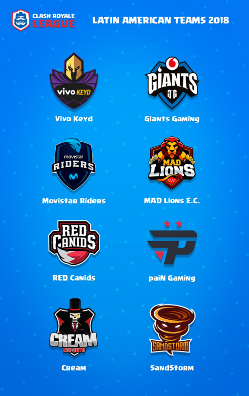 Clash Royale League Latin American teams