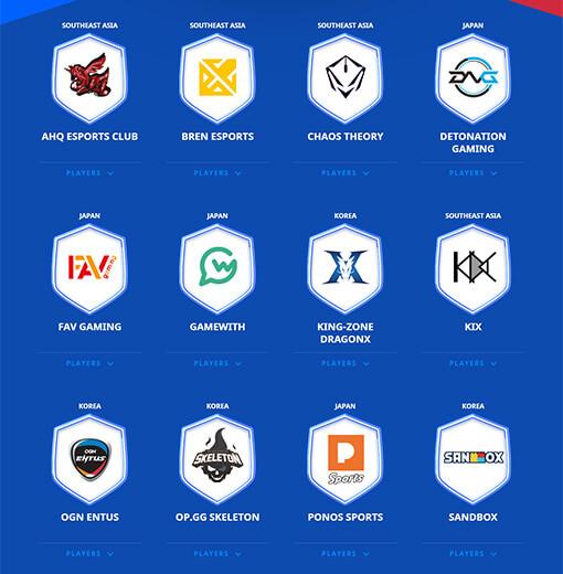 Clash Royale League Asian teams