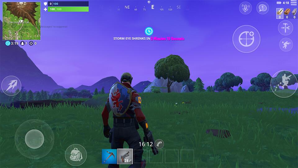 Fornite Mobile Customizable Hud Screenshot 1