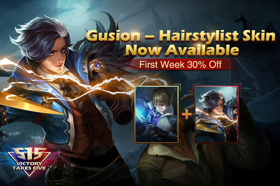 MLBB new skin Hairstylist Gusion is now available