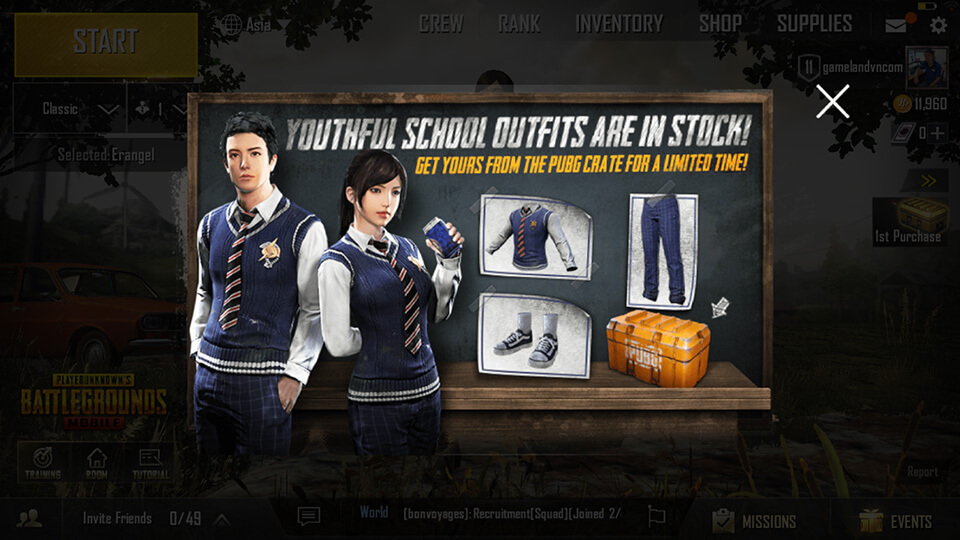 PUBG Mobile Youthful School Screenshot 2