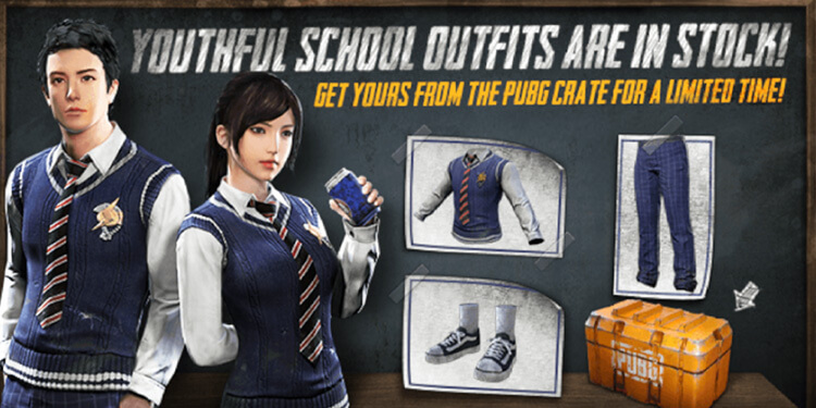 PUBG Mobile added new oufit Youthful School 1