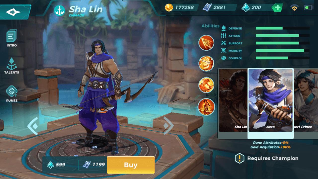 Sha Lin Aero skin in Paladins Strike