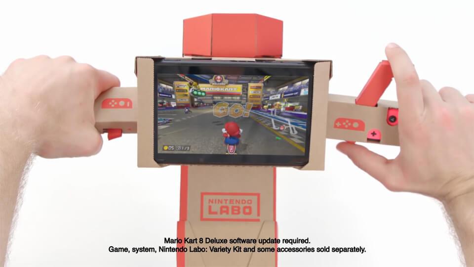 Mario Kart 8 Deluxe is now compatible with Nintendo Labo - Screenshot 1