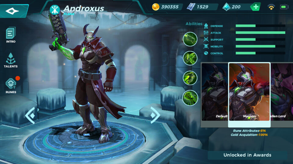 Paladins Strike Maroon (Unlocked in Awards)