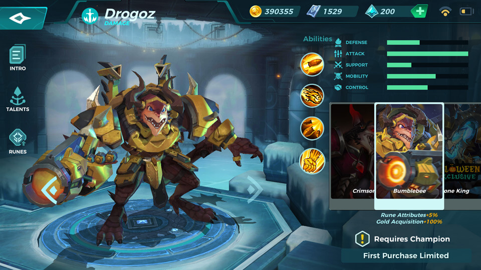 Drogoz Bumblebee (First Purchase Limited) Paladins Strike