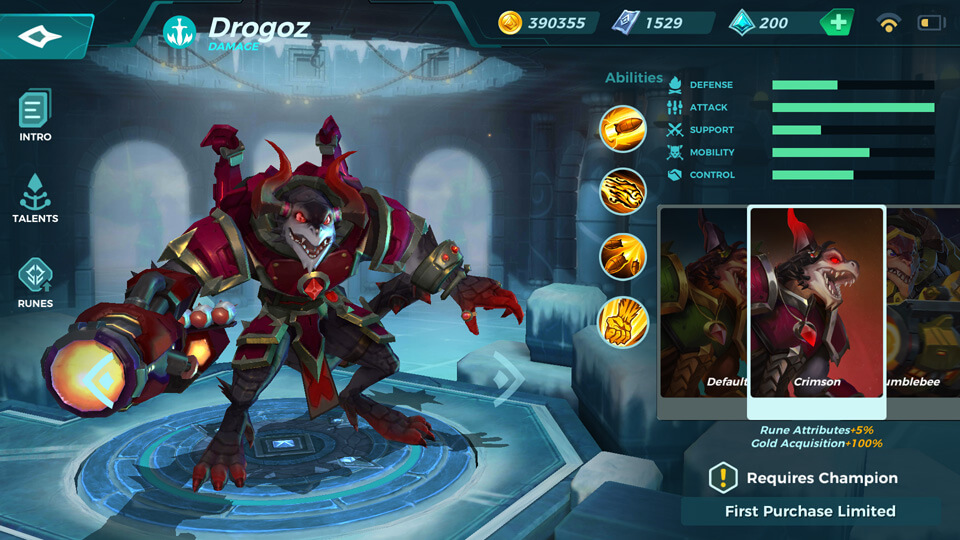 Drogoz Crimson (First Purchase Limited) Paladins Strike
