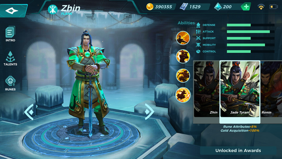 Jade Tyrant (Unlocked in Awards)