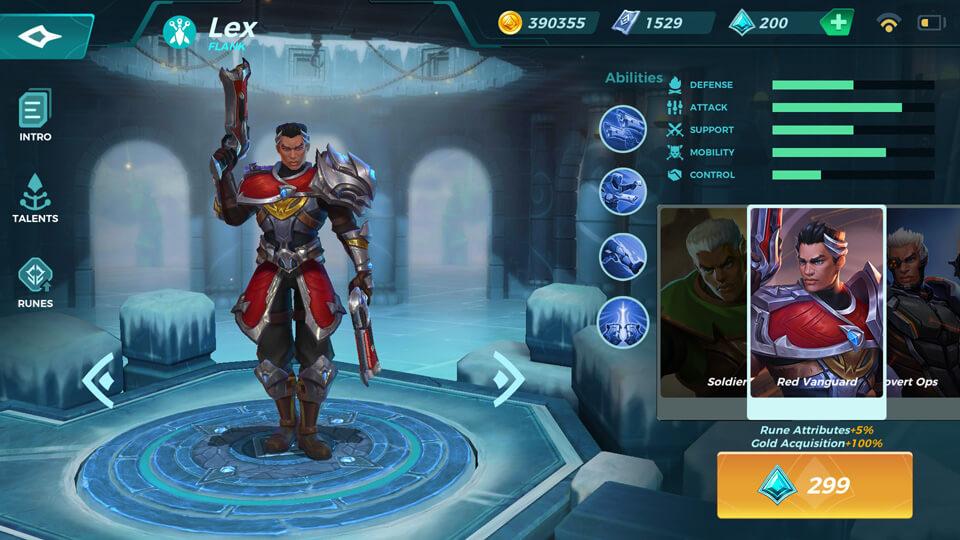 Lex Red Vanguard (Unlocked by Crystals) Paladins Strike