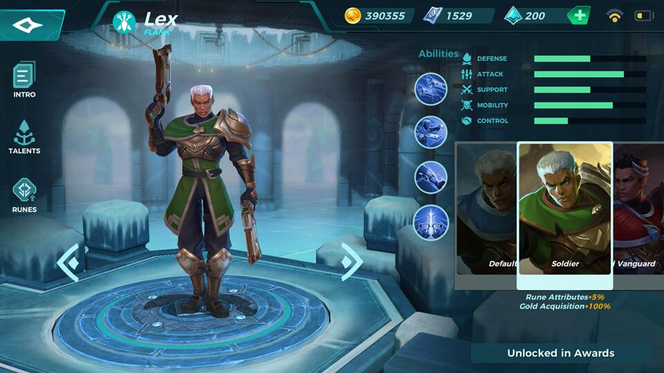 Lex Soldier (Unlocked in Awards) Paladins Strike
