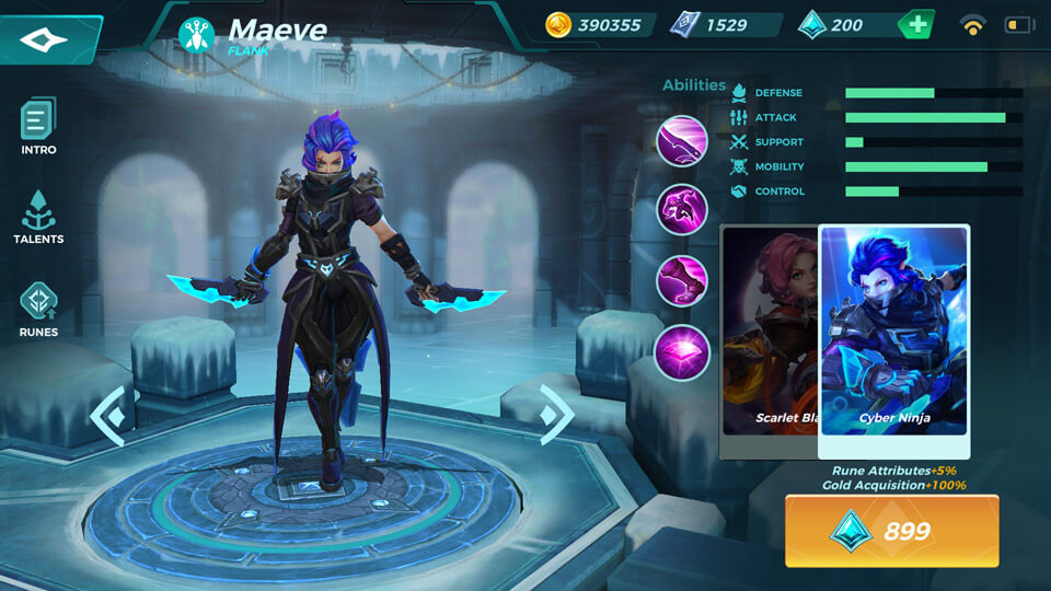 Maeve Cyber Ninja (Unlocked by Crystals) Paladins Strike