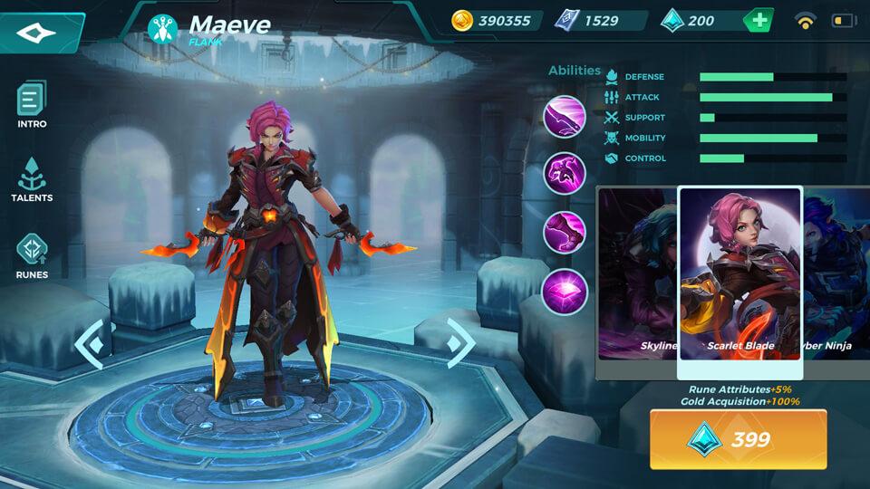 Maeve Scarlet Blade (Unlocked by Crystals) Paladins Strike