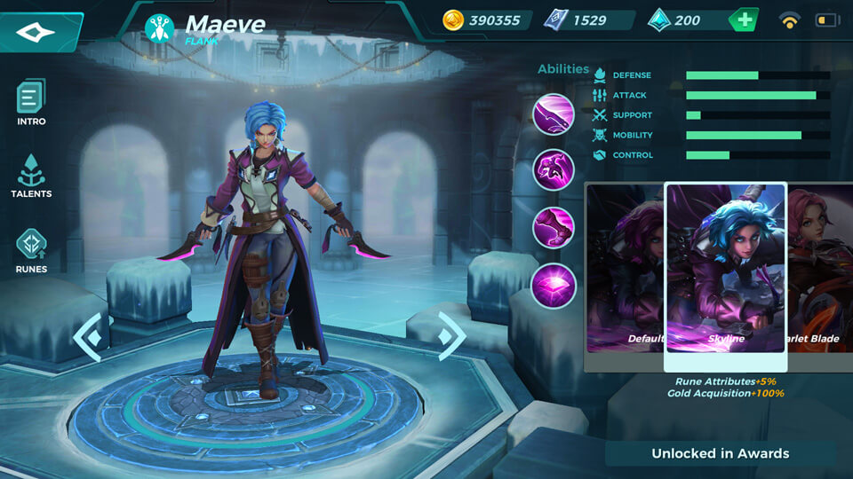 Maeve Skyline (Unlocked in Awards) Paladins Strike