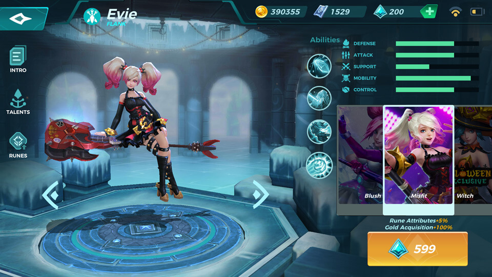 Evie Misfit (Unlocked by Crystals) Paladins Strike