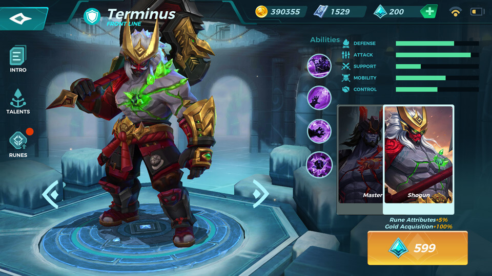 Shogun (Unlocked by Crystals) Paladins Strike