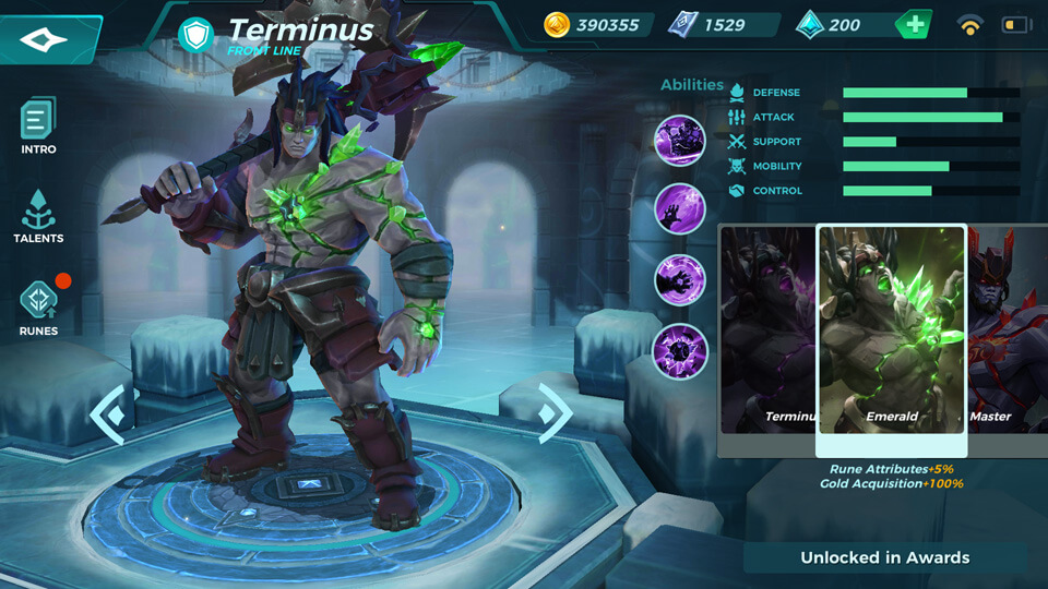Emerald (Unlocked in Awards) Paladins Strike