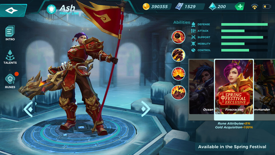 Ash Firecracker (Available in the Spring Festival) Paladins Strike