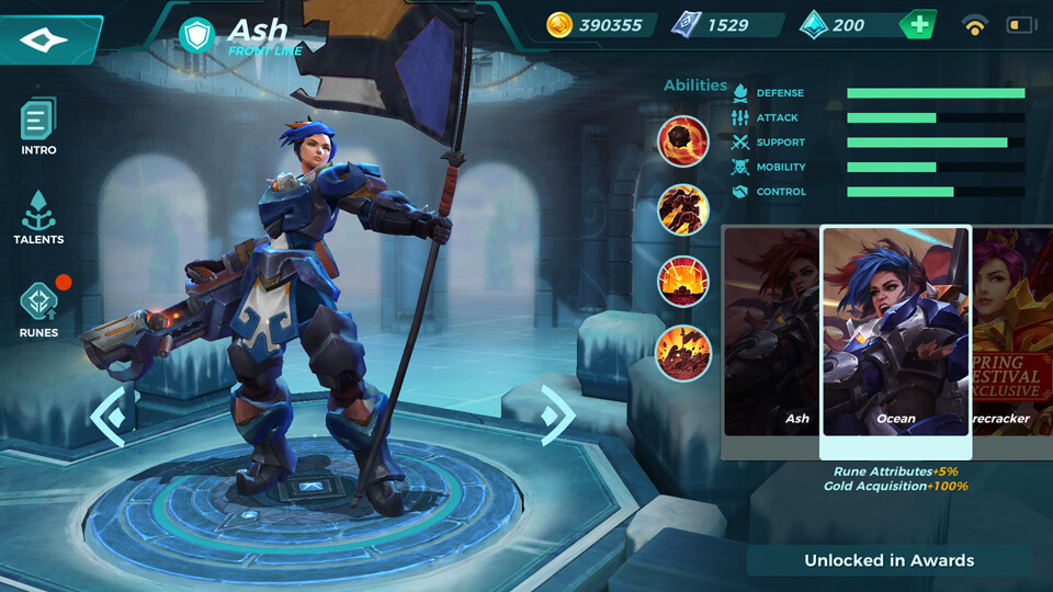 Ash Ocean (Unlocked in Awards) Paladins Strike