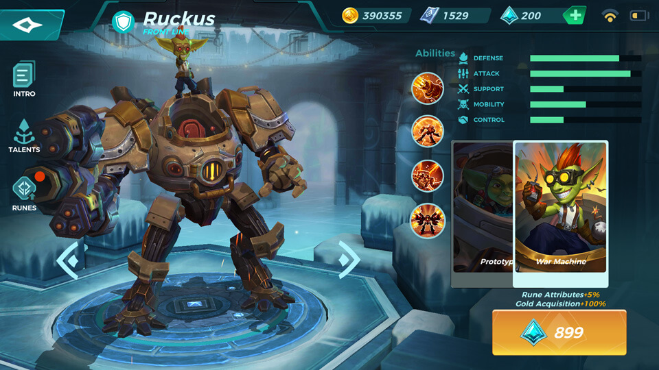 Ruckus War Machine (Unlocked by Crystals) Paladins Strike
