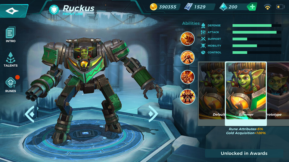 Ruckus Summer (Unlocked in Awards) Paladins Strike