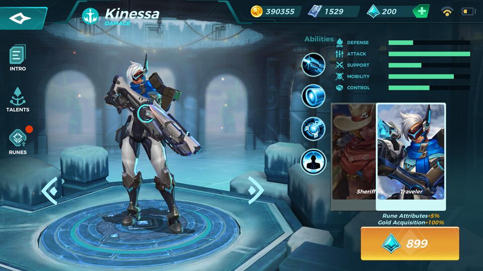 Kinessa Traveler (Unlocked by Crystals) Paladins Strike