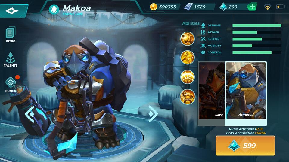 Paladins Strike Makoa Armored (Unlocked by Crystals)