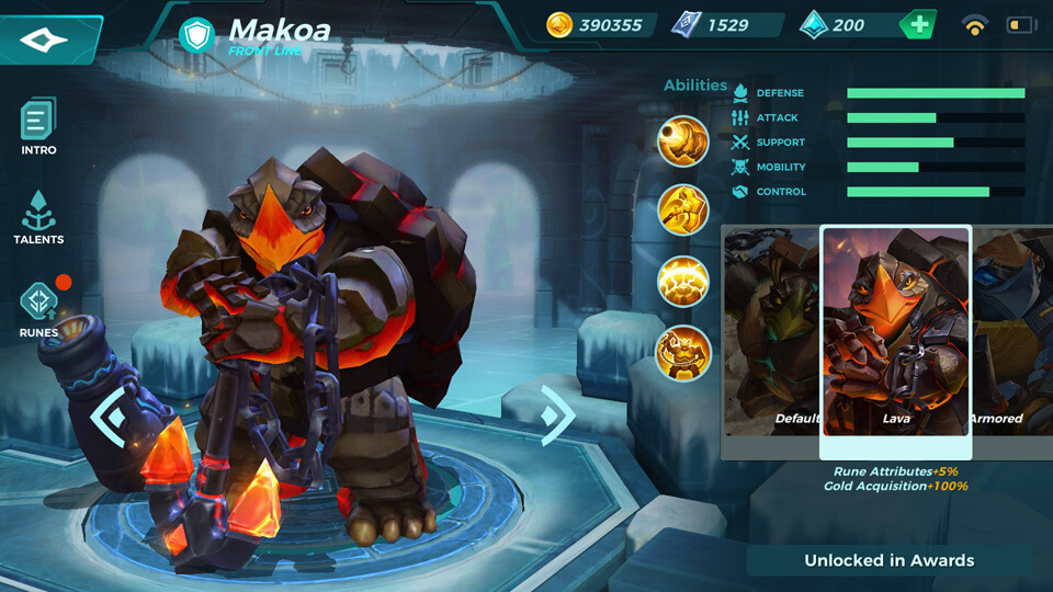 Paladins Strike Lava (Unlocked in Awards)