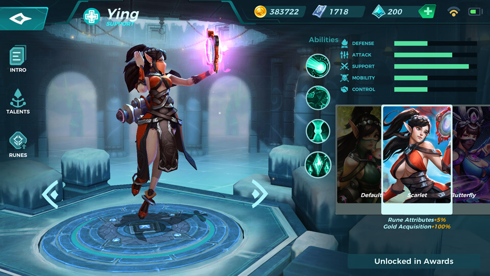 Ying Scarlet (Unlocked in Awards) Paladins Strike