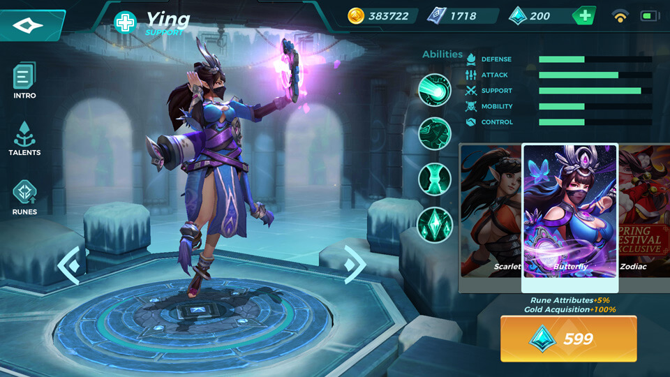 Ying Butterfly (Unlocked by Crystals) Paladins Strike
