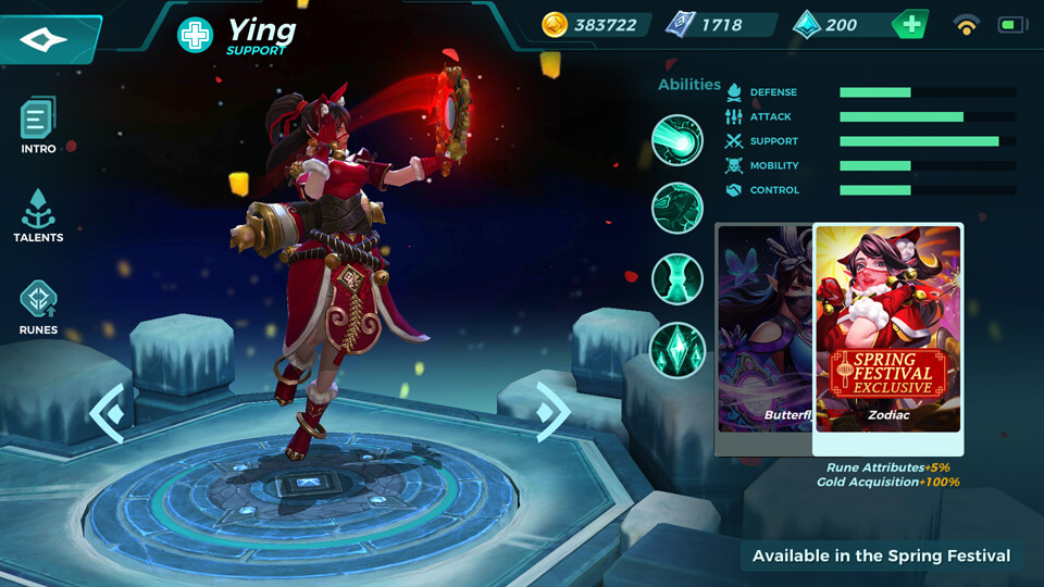 Ying Zodiac (Available in the Spring Festival) Paladins Strike