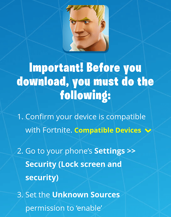 Fortnite Android Beta is now available on compatible devices - Image