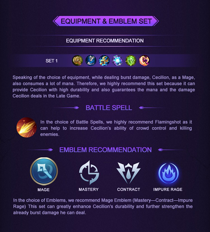 MLBB Hero Academy Cecilion - Equipment and Emblem Set